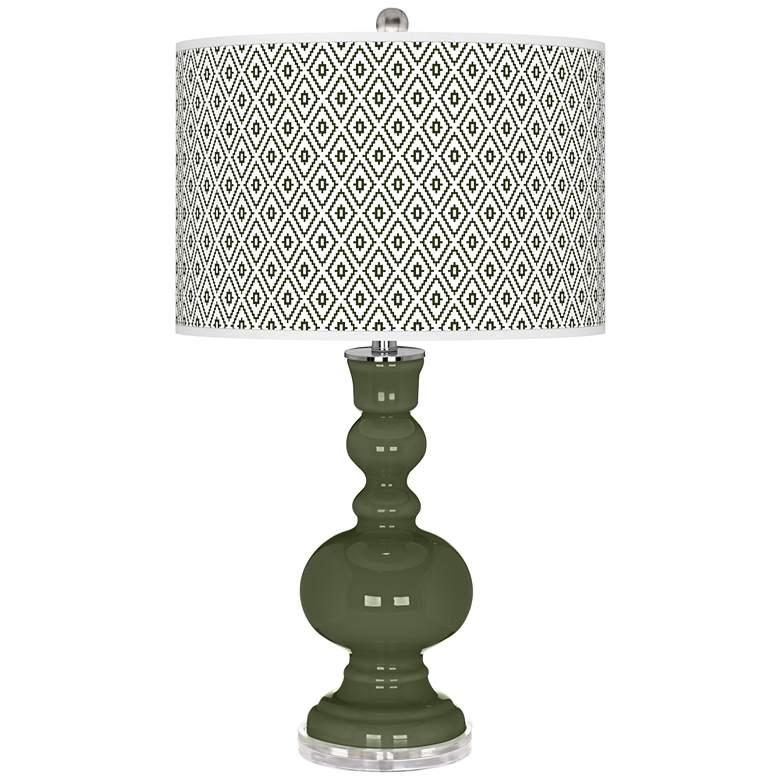Secret Garden Diamonds Apothecary Table Lamp