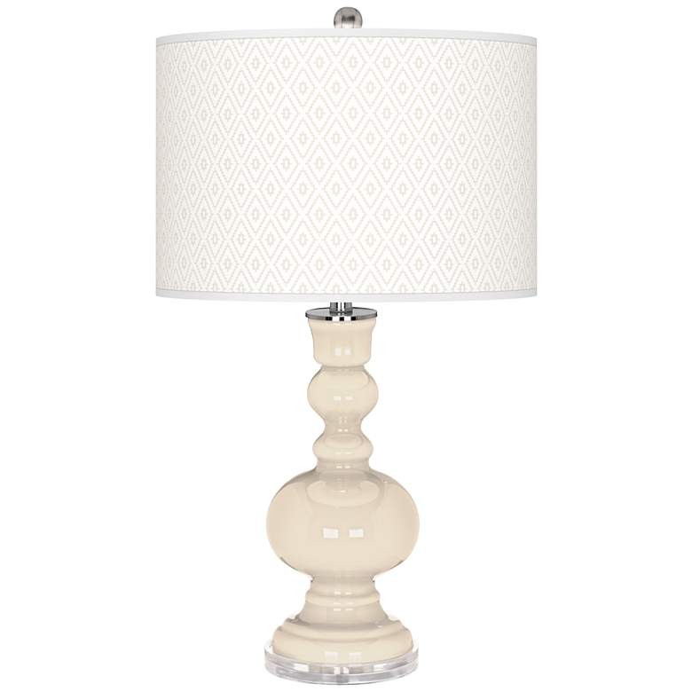Steamed Milk Diamonds Apothecary Table Lamp