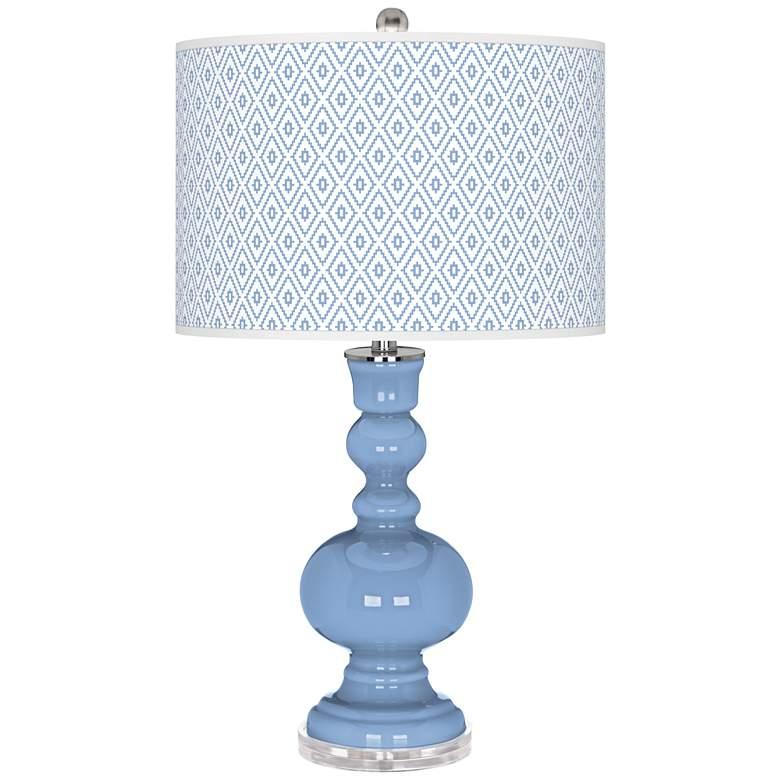 Placid Blue Diamonds Apothecary Table Lamp