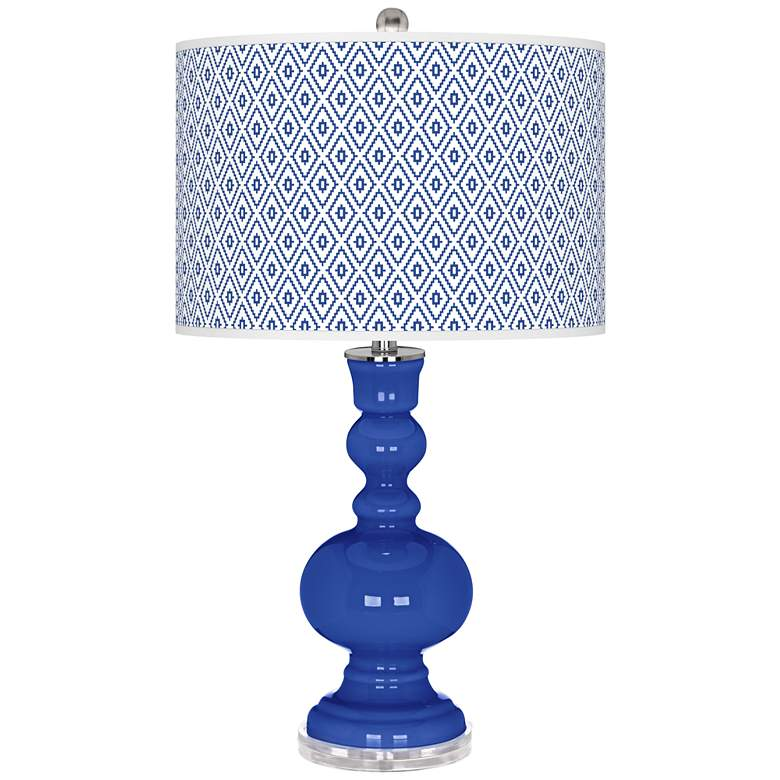 Dazzling Blue Diamonds Apothecary Table Lamp