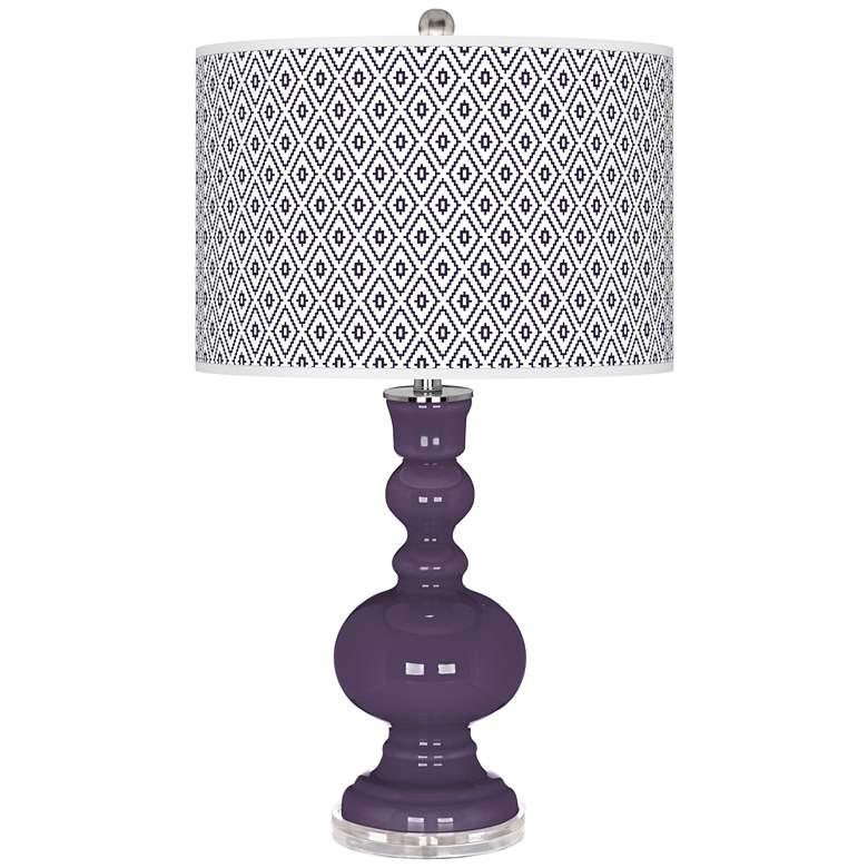 Quixotic Plum Diamonds Apothecary Table Lamp
