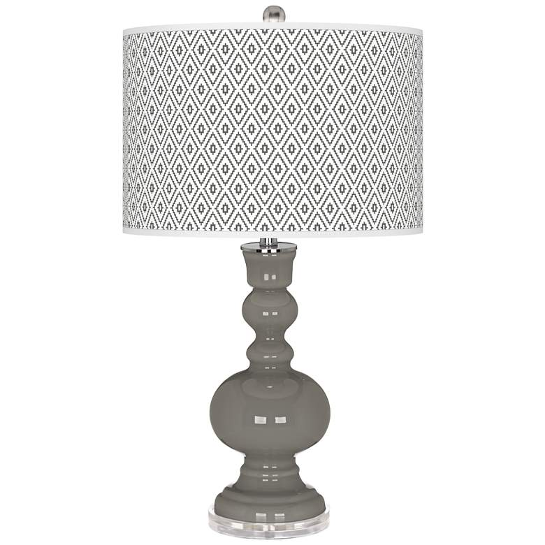 Gauntlet Gray Diamonds Apothecary Table Lamp