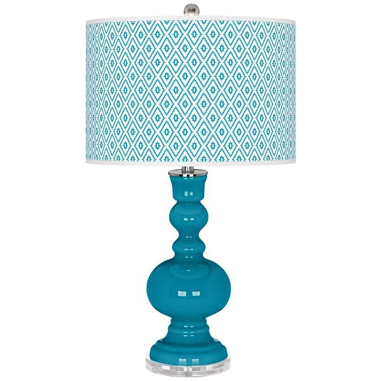 Caribbean Sea Diamonds Apothecary Table Lamp