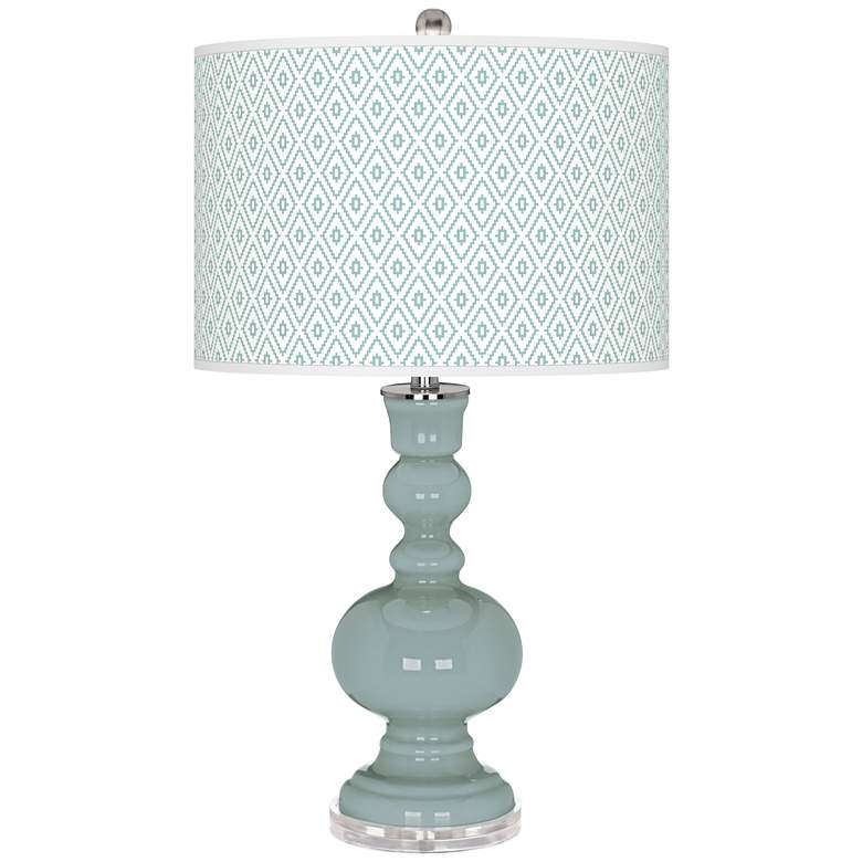 Aqua-Sphere Diamonds Apothecary Table Lamp