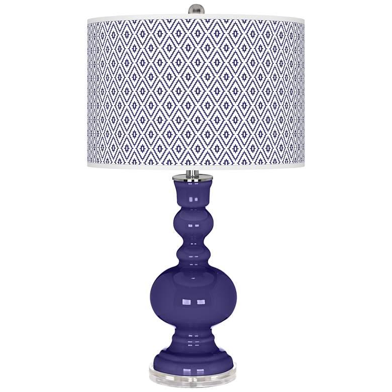Valiant Violet Diamonds Apothecary Table Lamp