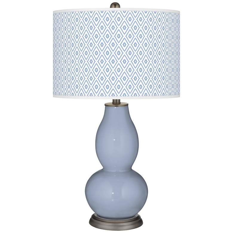 Blue Sky Diamonds Double Gourd Table Lamp