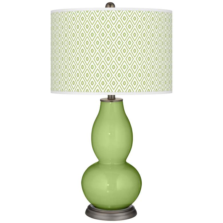 Lime Rickey Diamonds Double Gourd Table Lamp