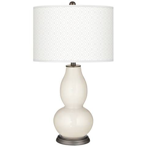 West Highland White Diamonds Double Gourd Table Lamp