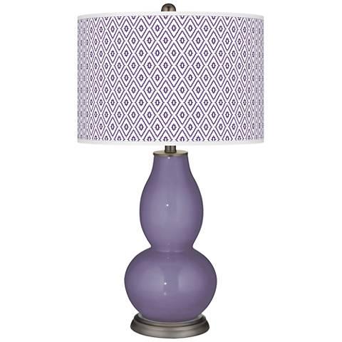 Purple Haze Diamonds Double Gourd Table Lamp