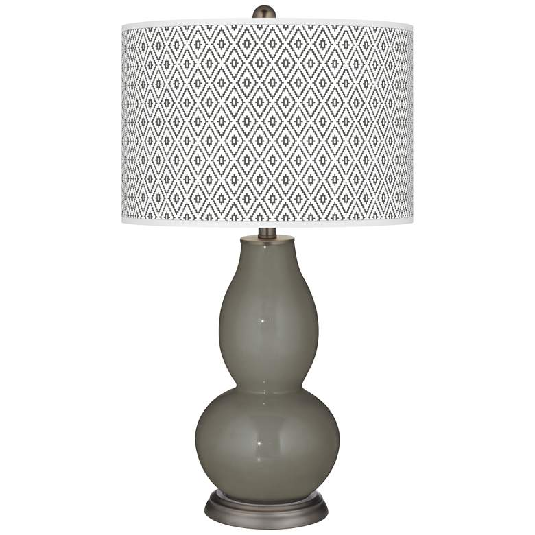 Gauntlet Gray Diamonds Double Gourd Table Lamp