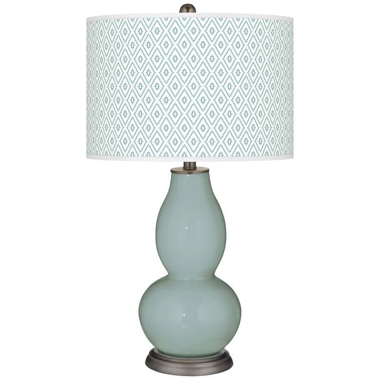 Aqua-Sphere Diamonds Double Gourd Table Lamp