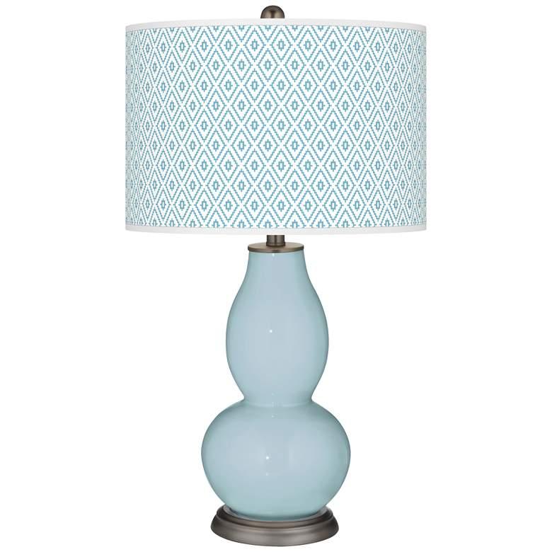 Vast Sky Diamonds Double Gourd Table Lamp