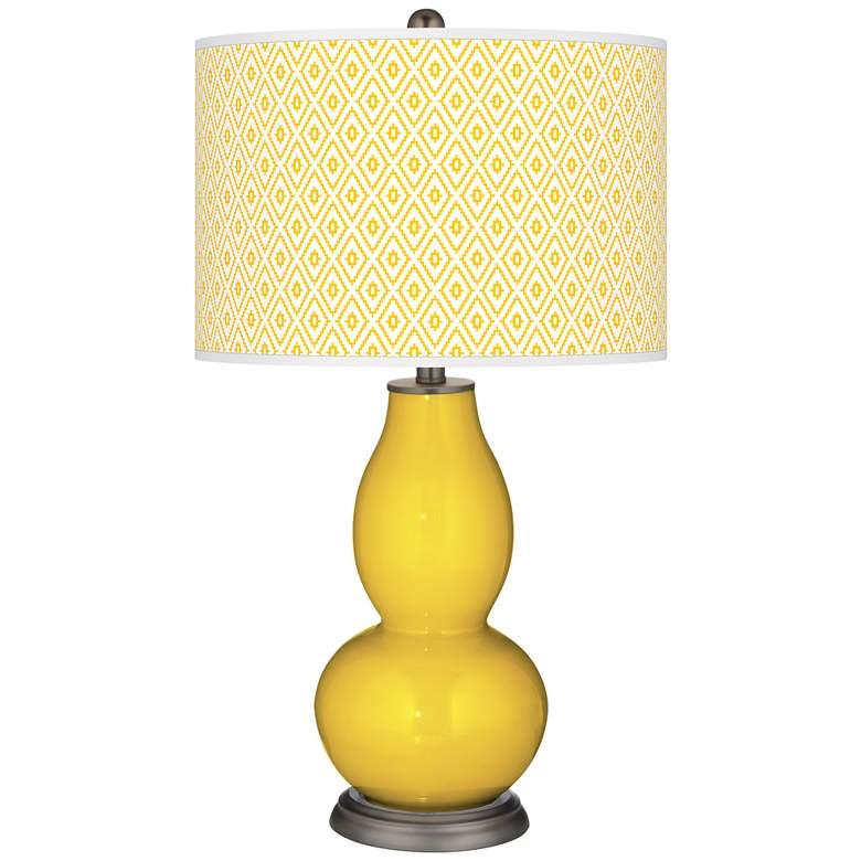Citrus Diamonds Double Gourd Table Lamp