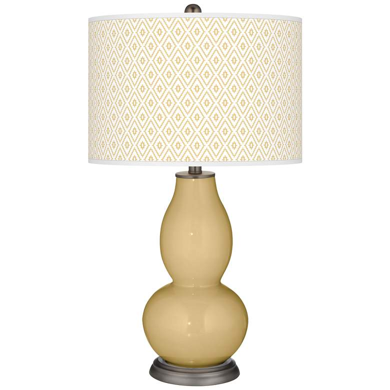 Humble Gold Diamonds Double Gourd Table Lamp