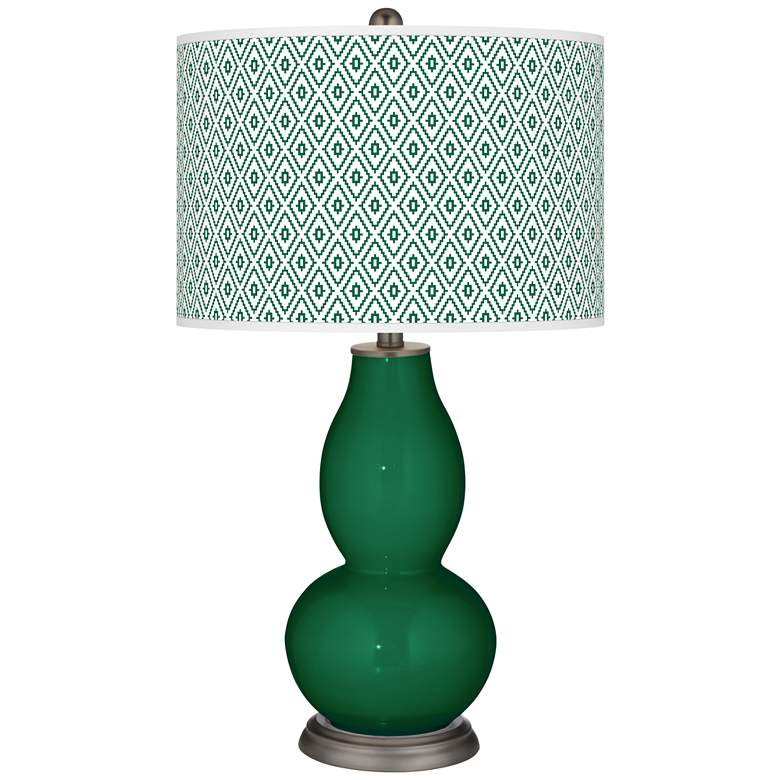 Greens Diamonds Double Gourd Table Lamp