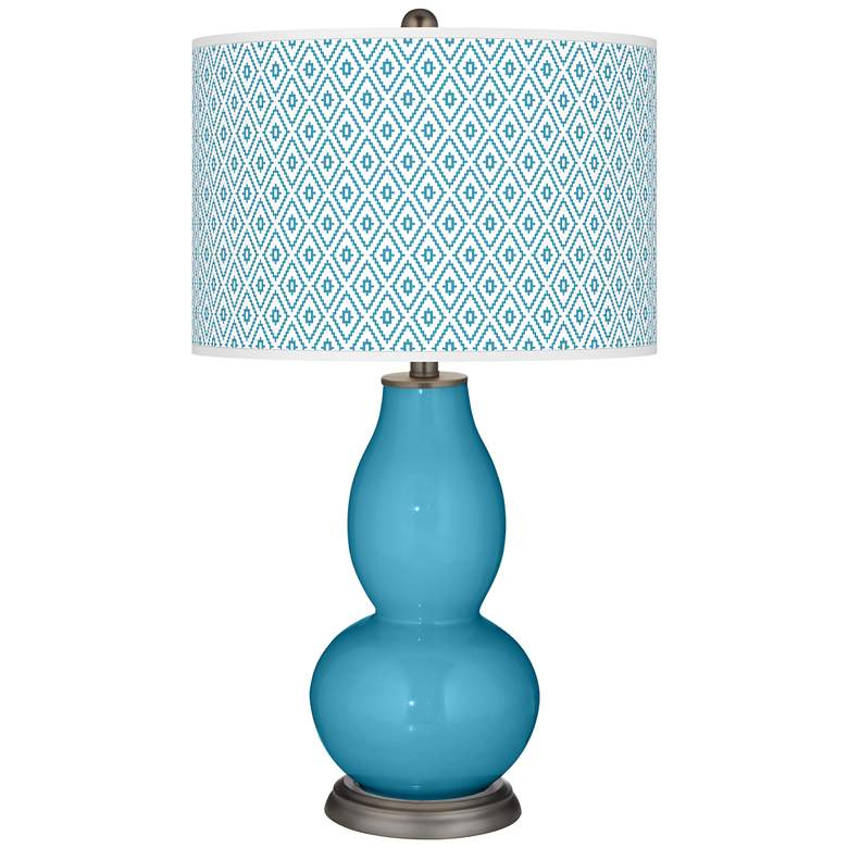 Jamaica Bay Diamonds Double Gourd Table Lamp