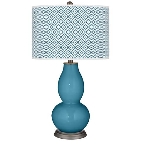 Great Falls Diamonds Double Gourd Table Lamp