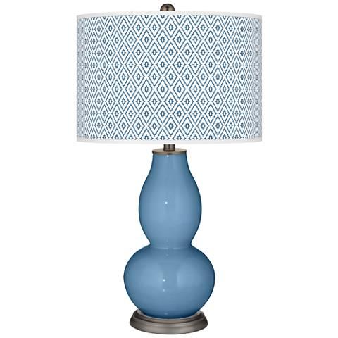Secure Blue Diamonds Double Gourd Table Lamp