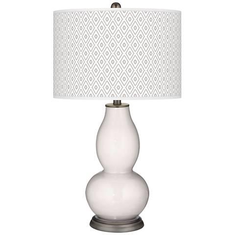 Smart White Diamonds Double Gourd Table Lamp
