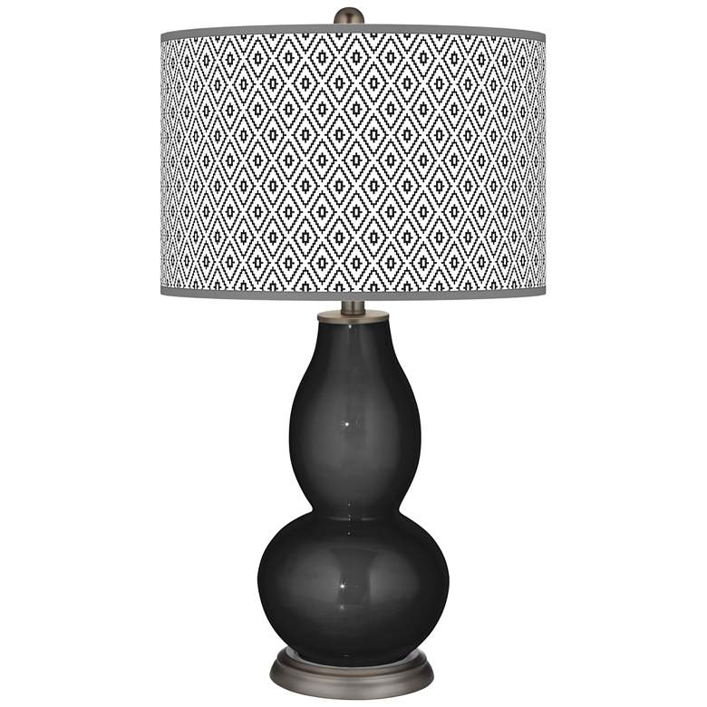 Tricorn Black Diamonds Double Gourd Table Lamp