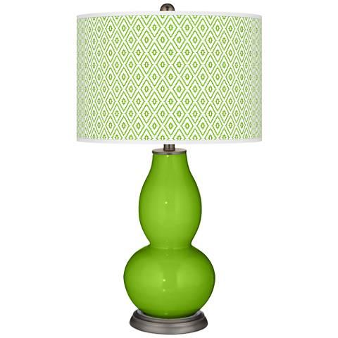 Neon Green Diamonds Double Gourd Table Lamp