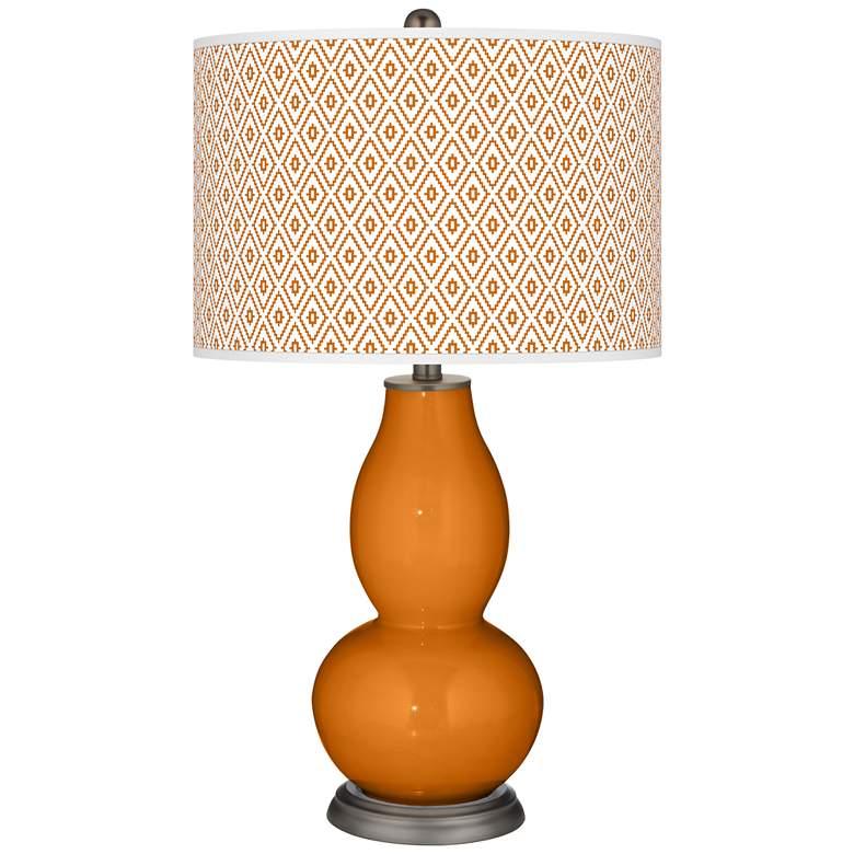 Cinnamon Spice Diamonds Double Gourd Table Lamp
