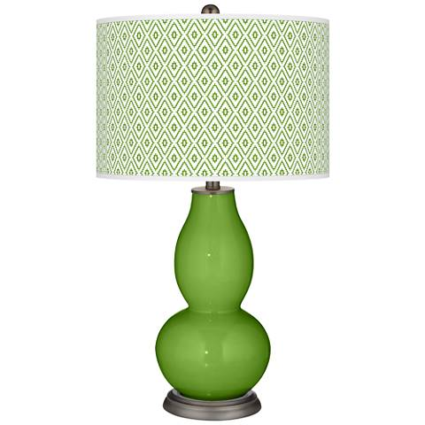 Rosemary Green Diamonds Double Gourd Table Lamp