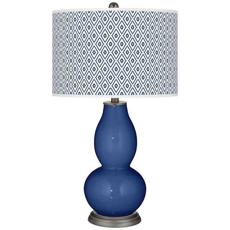 Monaco Blue Diamonds Double Gourd Table Lamp