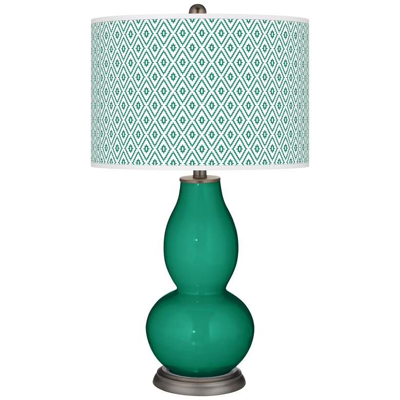 Emerald Diamonds Double Gourd Table Lamp