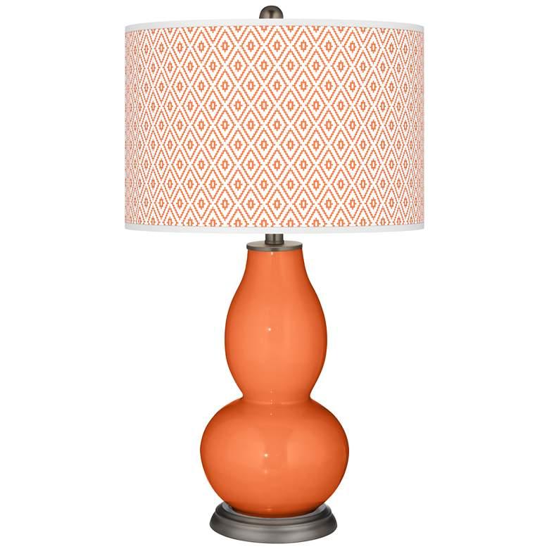 Nectarine Diamonds Double Gourd Table Lamp
