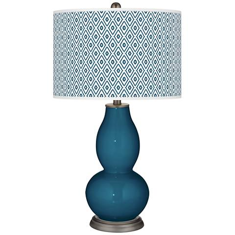Oceanside Diamonds Double Gourd Table Lamp