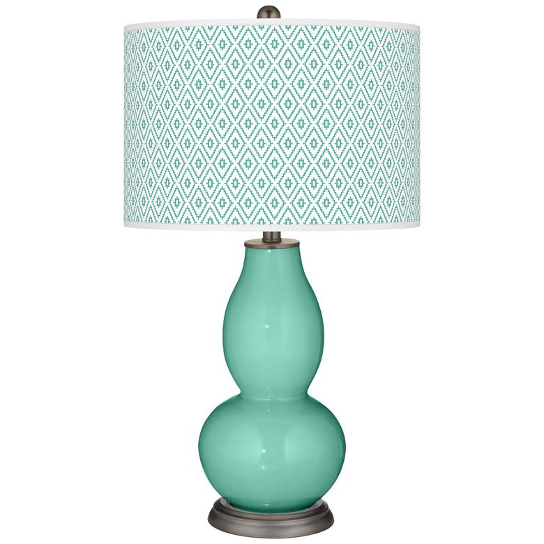Larchmere Diamonds Double Gourd Table Lamp