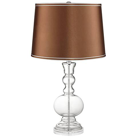 Clear Fillable Glass Copper Satin Apothecary Table Lamp