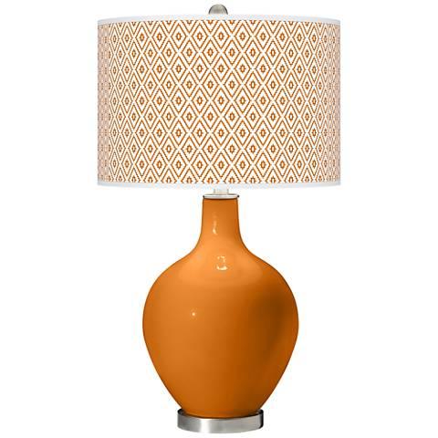 Cinnamon Spice Diamonds Ovo Table Lamp