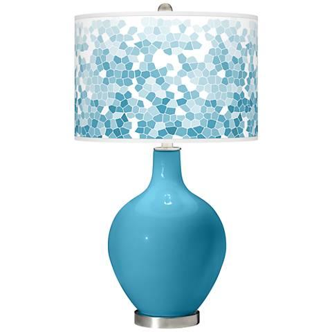 Jamaica Bay Mosaic Giclee Ovo Table Lamp