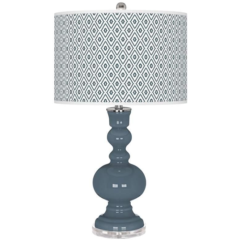 Smoky Blue Diamonds Apothecary Table Lamp
