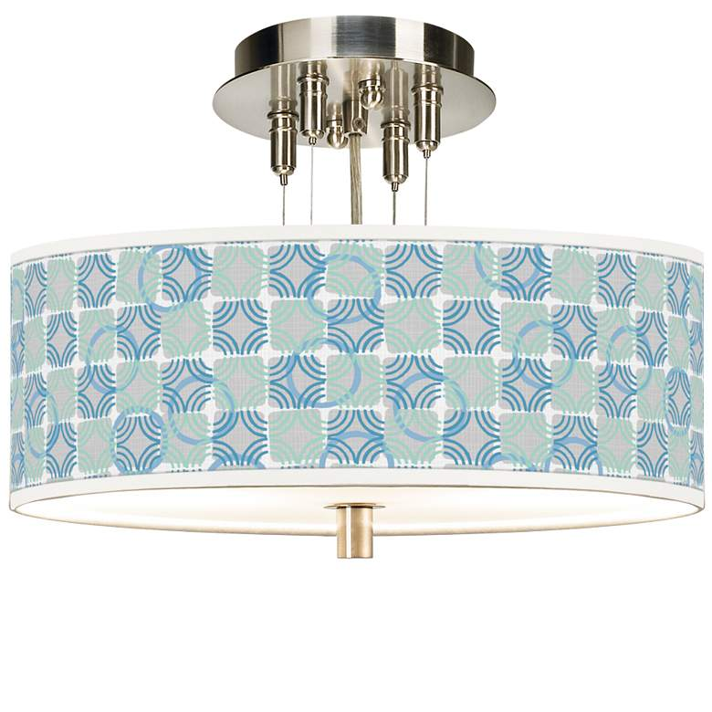 """Deco Circles Giclee 14"""" Wide Ceiling Light"""