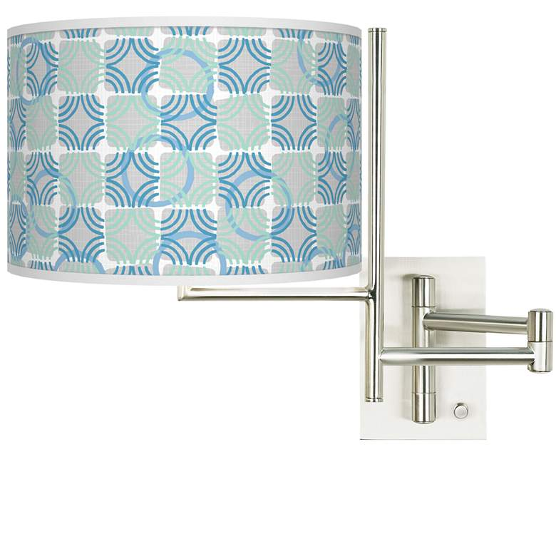 Tempo Deco Circles Plug-in Swing Arm Wall Lamp