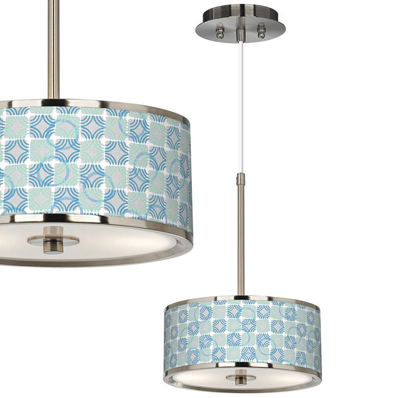 "Deco Circles Giclee Glow 10 1/4"" Wide Pendant Light"