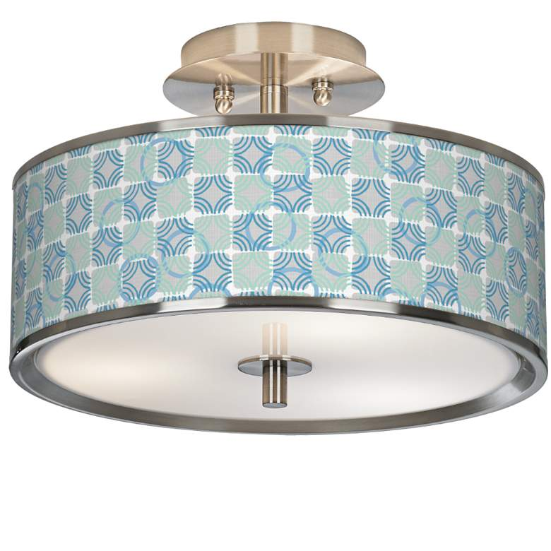 """Deco Circles Giclee Glow 14"""" Wide Ceiling Light"""