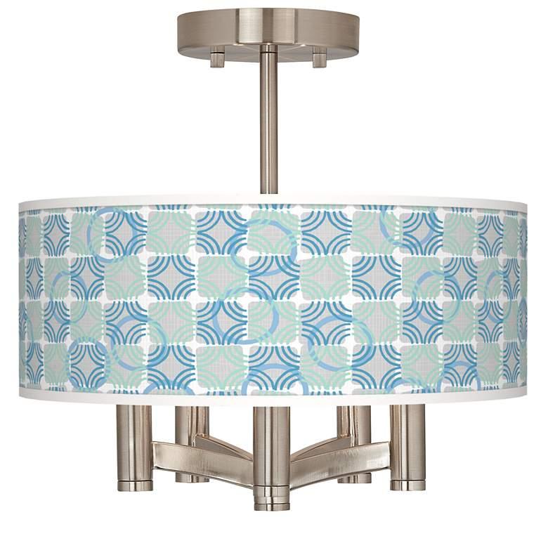 Deco Circles Ava 5-Light Nickel Ceiling Light