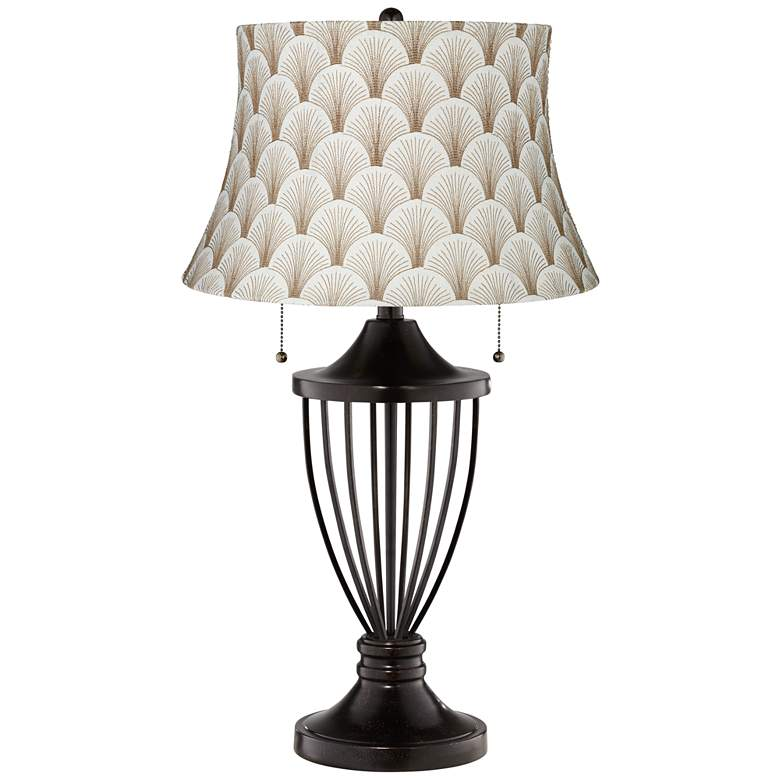 Boden Mocha Shade Bronze Urn Table Lamp