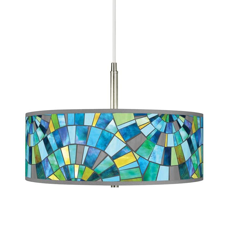 Lagos Mosaic Giclee Pendant Chandelier