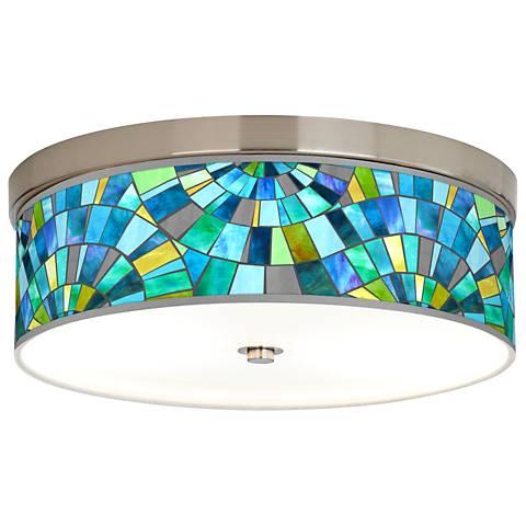 Lagos Mosaic Giclee Energy Efficient Ceiling Light