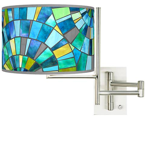 Tempo Lagos Mosaic Plug-in Swing Arm Wall Lamp