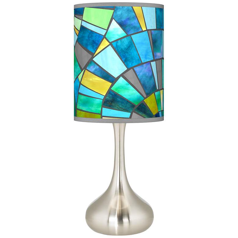 Lagos Mosaic Giclee Droplet Table Lamp