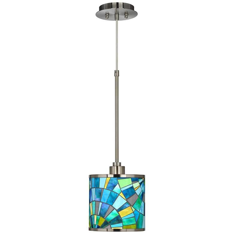 Lagos Mosaic Giclee Glow Mini Pendant Light