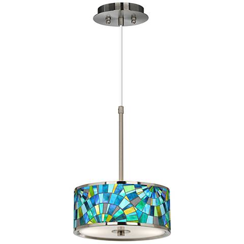 "Lagos Mosaic Giclee Glow 10 1/4"" Wide Pendant Light"