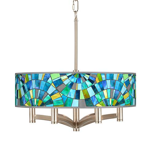 Lagos Mosaic Ava 6-Light Nickel Pendant Chandelier