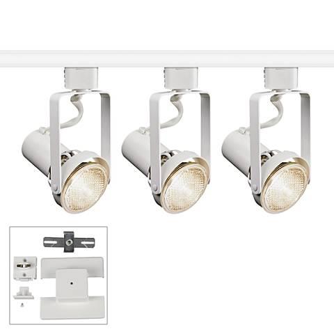 Juno 3-Light Par20 White Bullet Floating Canopy Track Kit